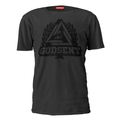 GODSENT Black on Dark Gray Tee - ECS Official EU Store