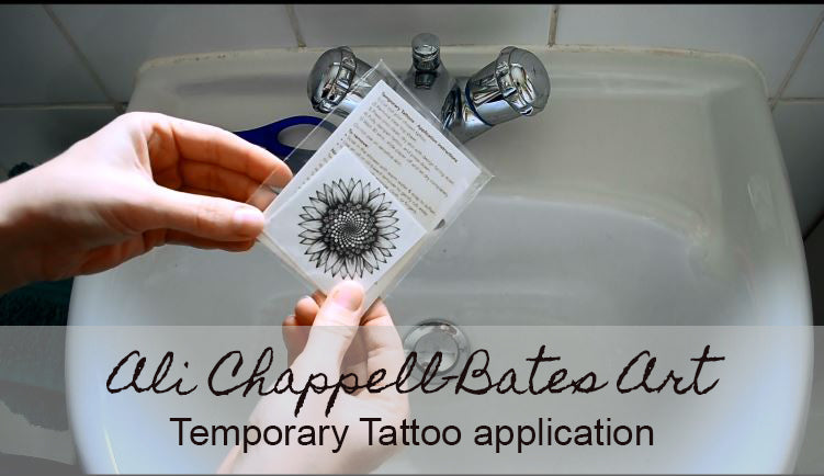 Temporary Tattoo Application video