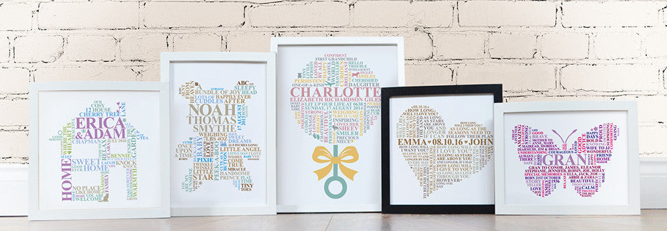 Word art gifts