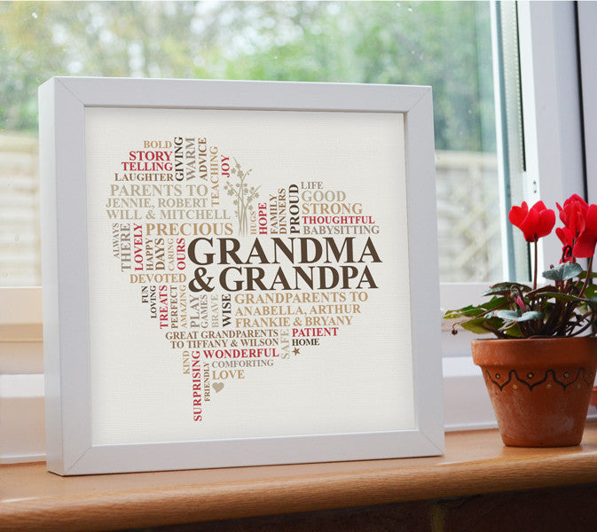 Framed present for both Grandparents.