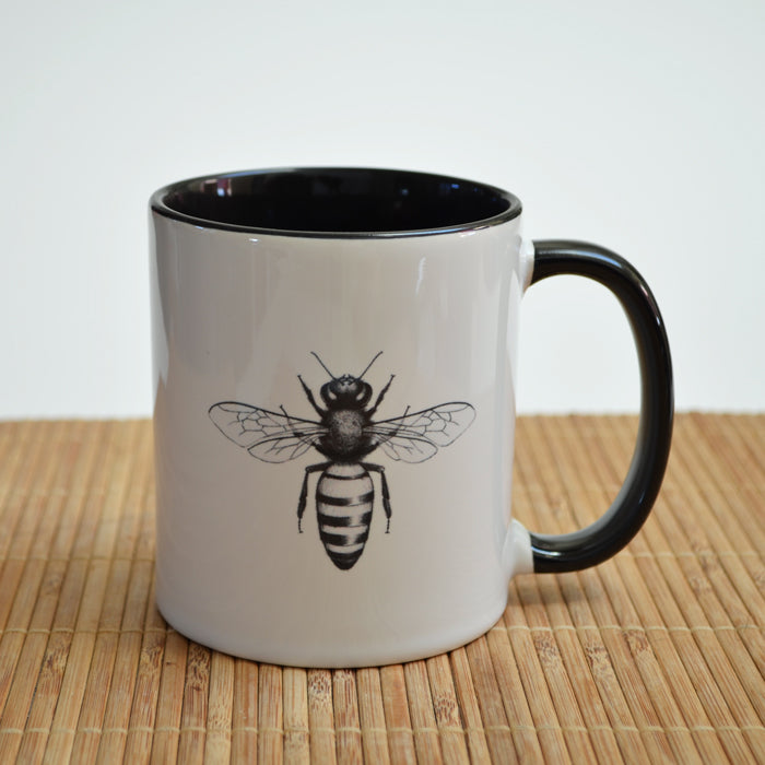 Honey Bee Art Ceramic Mug
