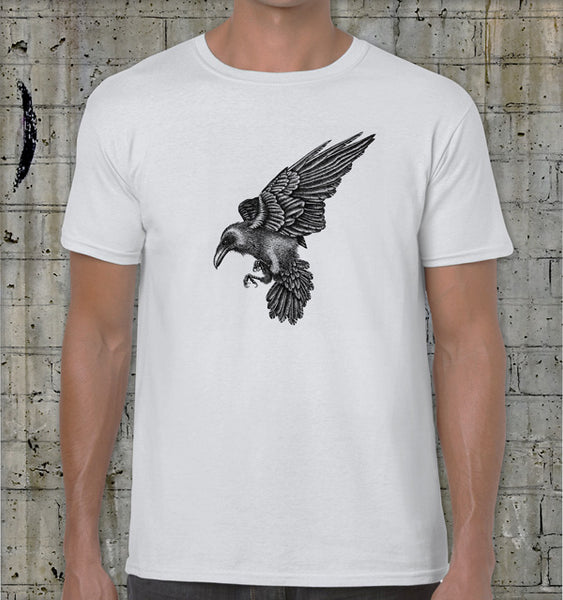 Men's fitted raven t-shirt