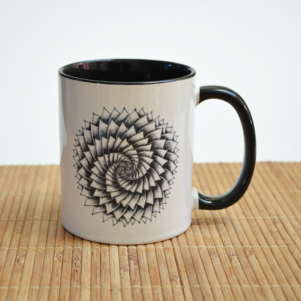 Succulent Art Ceramic Mug