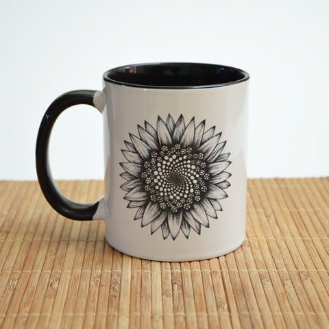 Sunflower Art Ceramic Mug