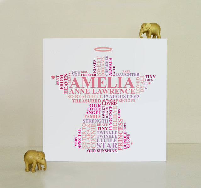 Angel memorial canvas for baby girl.