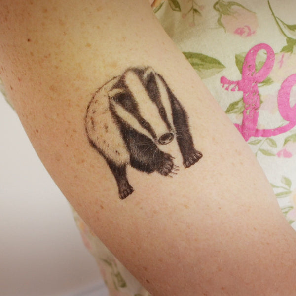 Badger temporary tattoo
