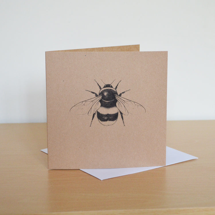 Greetings card with Bumble Bee art.