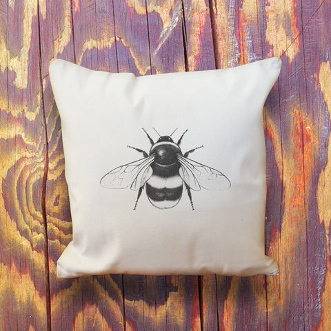 Bumblebee natural cotton throw cushion