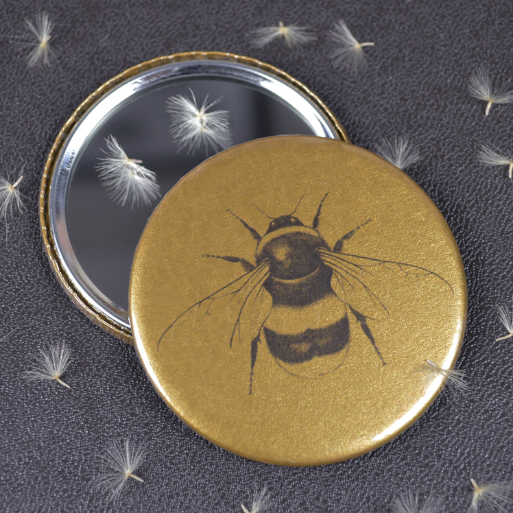 Bumblebee compact pocket mirror