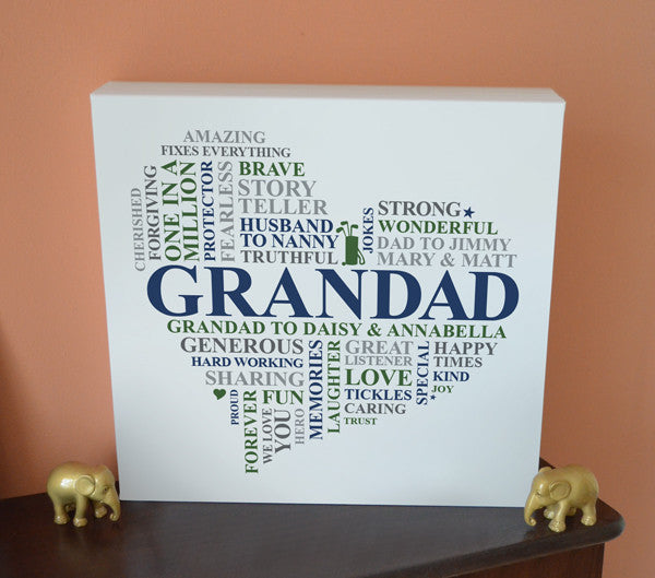 Grandad's birthday canvas gift.