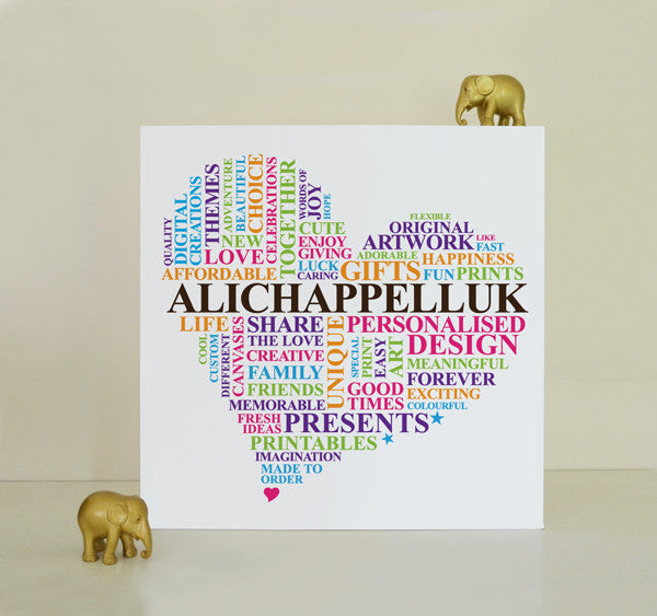 Custom design canvas. Choose your shape and words.