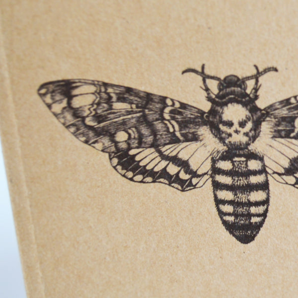Death's Head Hawk Moth recycled notebook