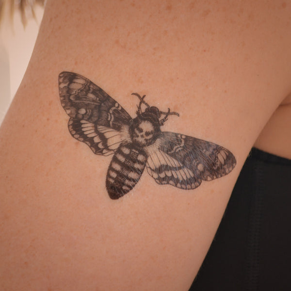 Death's Head HawkMoth temporary tattoo