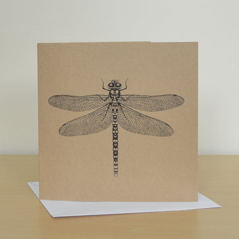 Recycled Dragonfly greetings card.
