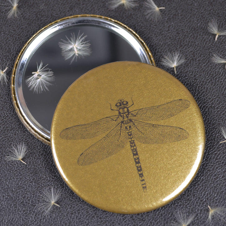 Dragonfly compact pocket mirror