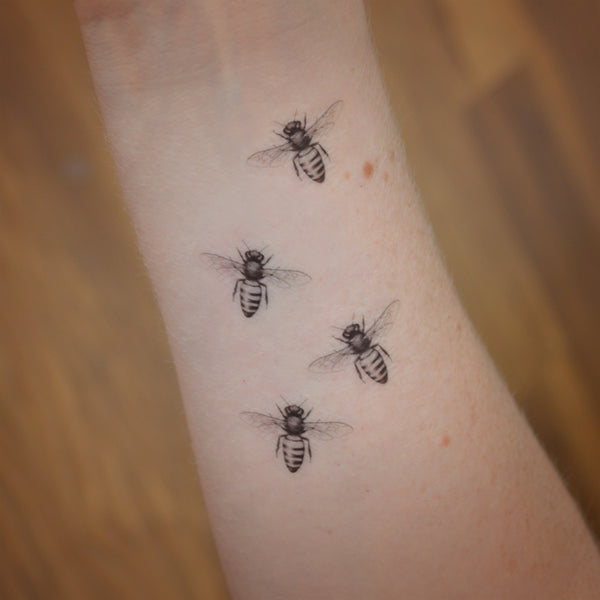 Honey bee temporary tattoos