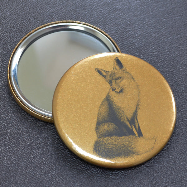 Fox compact pocket mirror