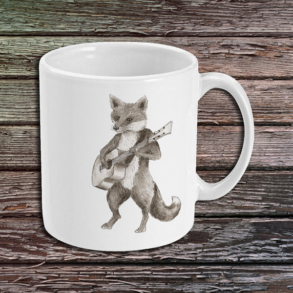 Mug - Fox Playing Guitar