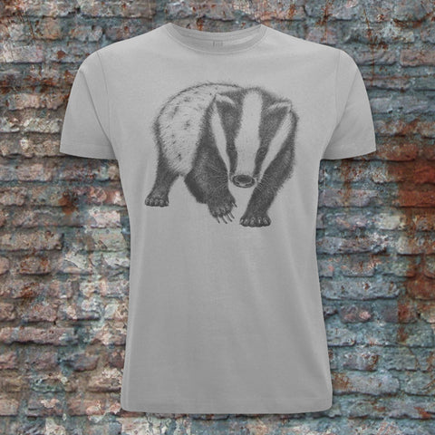 Men's ethical badger t-shirt.