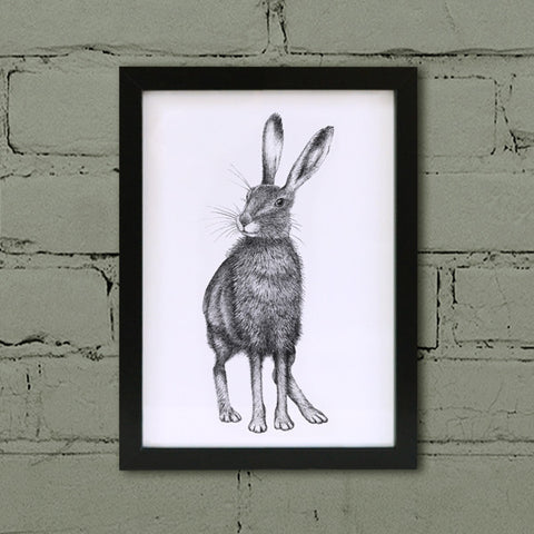 Brown hare wall art