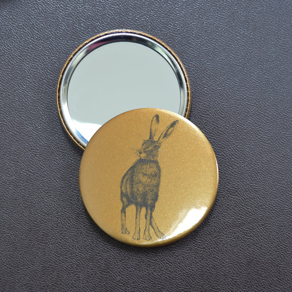 Hare compact pocket mirror