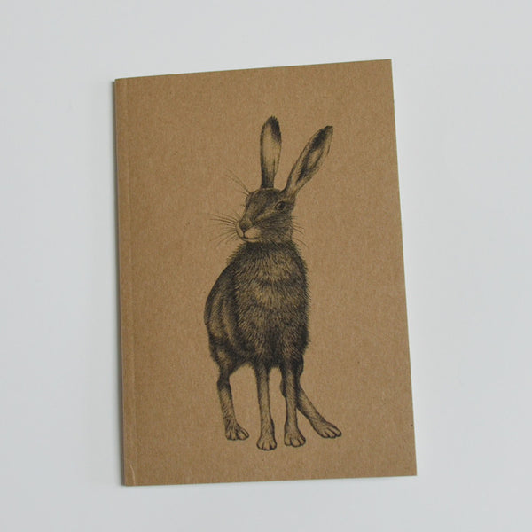Eco-friendly A6 notebook with Hare illustration.