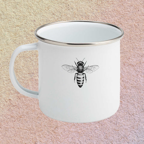 Honey Bee Enamel Mug