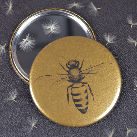 Honey Bee compact pocket mirror