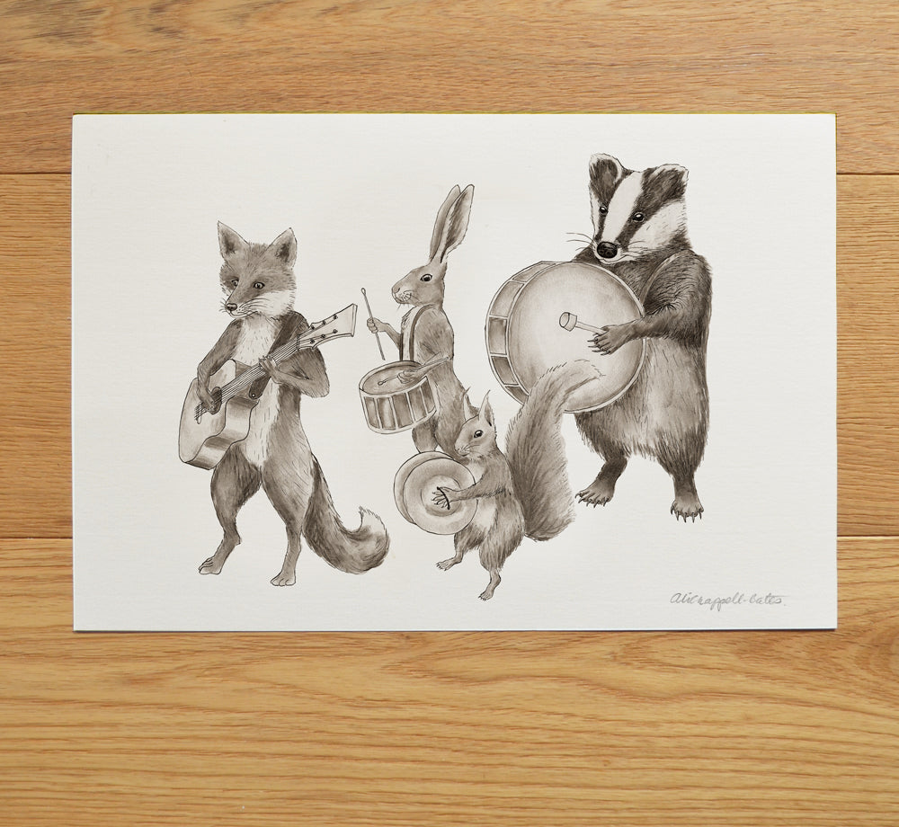 'Lovely Day' Marching animal band print