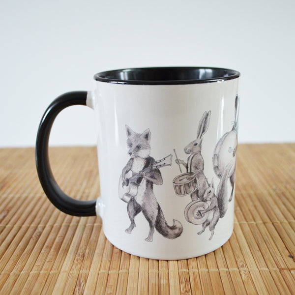 Marching Animal Band 'Lovely Day' Ceramic Mug