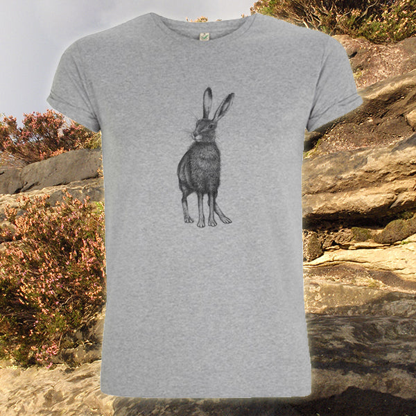 Men's rolled sleeve Hare t-shirt