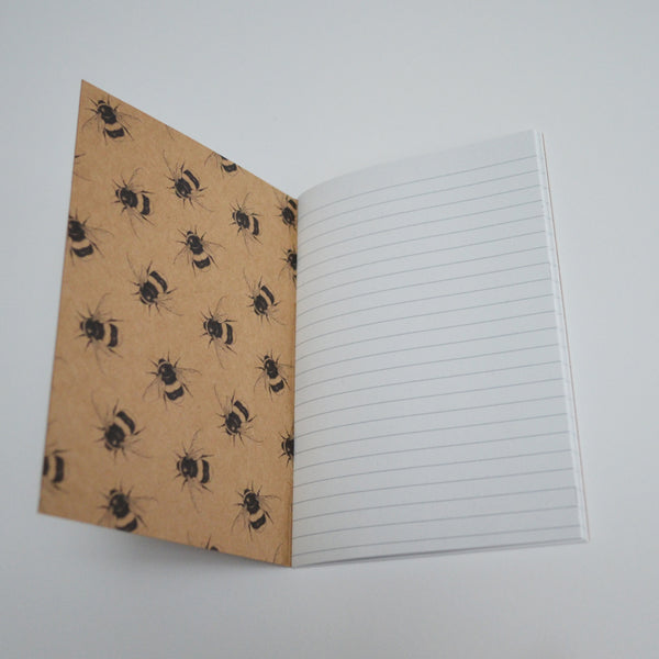 Cute Bumblebee pattern recycled notebook