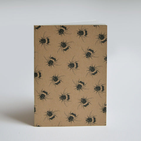 Cute Bumblebee pattern recycled A6 notebook