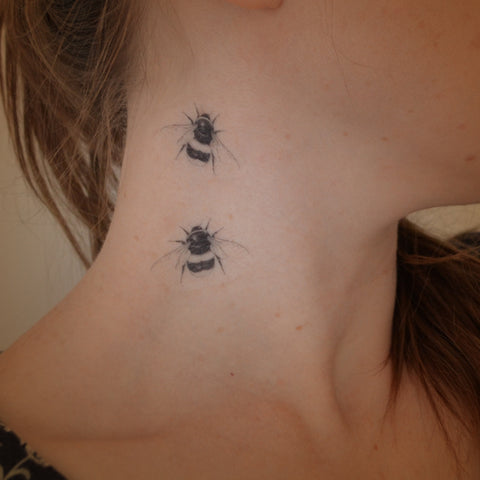 Mini Bumble bees temporary tattoos