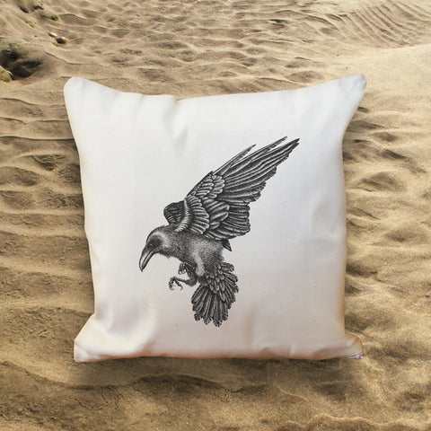 Raven Throw Cushion