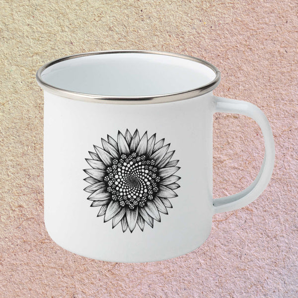 Sunflower Enamel Mug