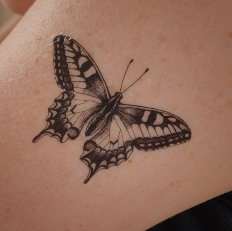 Swallowtail Butterfly temporary tattoo