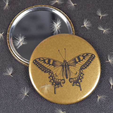 Swallowtail Butterfly compact pocket mirror
