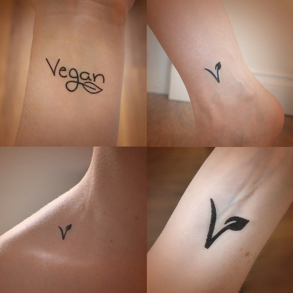 Set of 4 Vegan temporary tattoos