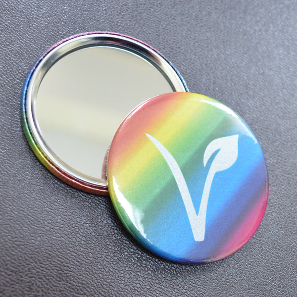 Vegan rainbow pocket mirror