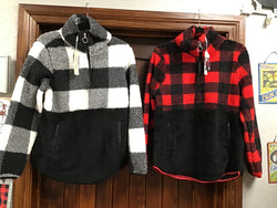 Charlie Paige Assorted Plaid Sweaters with Pockets