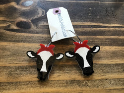 Heifer Red Bandana Earrings