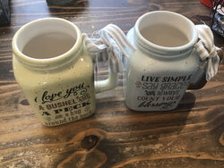 Ceramic Mason Jar Mugs