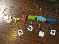 Metal Farm Animal Hooks