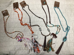 Assorted Long Tassel Necklaces