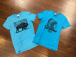 Oklahoma T-Shirt Bison or Indian