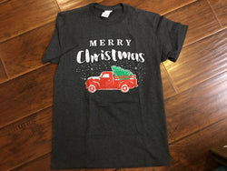 Red Truck Merry Christmas T-Shirt