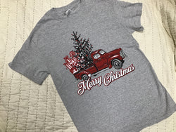 Red Truck Merry Xmas T-Shirt