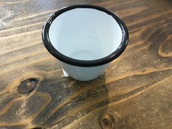 Farmhouse Enamelware Small Pot