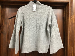 Mudpie Eve Knit Sweater Gray